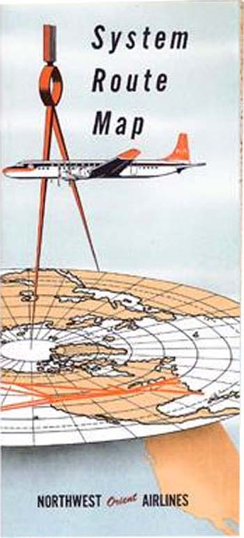 Northwest Orient Airlines Map