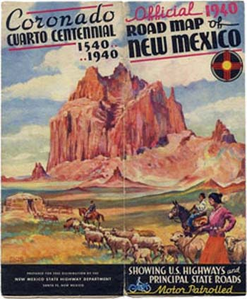 Road Map of New Mexico