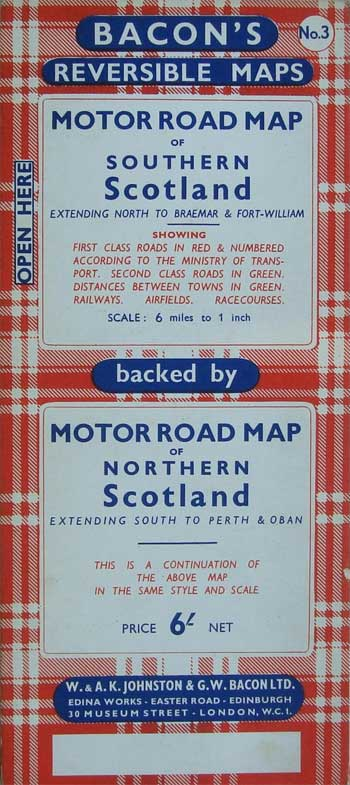 Motor Road Map of Northern Scotland