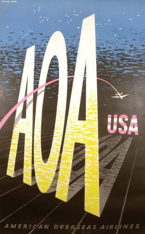 AOA (American Overseas Airlines) USA circa 1940