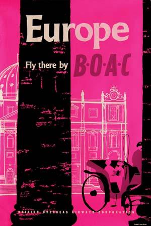 BOAC Europe 1957