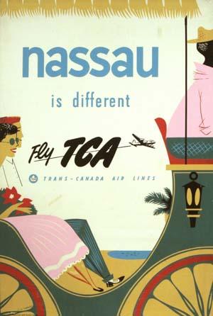 TCA (Trans-Canada Air Lines) Nassau 1954
