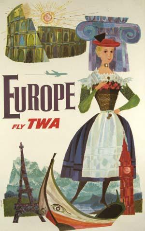TWA Europe circa 1960