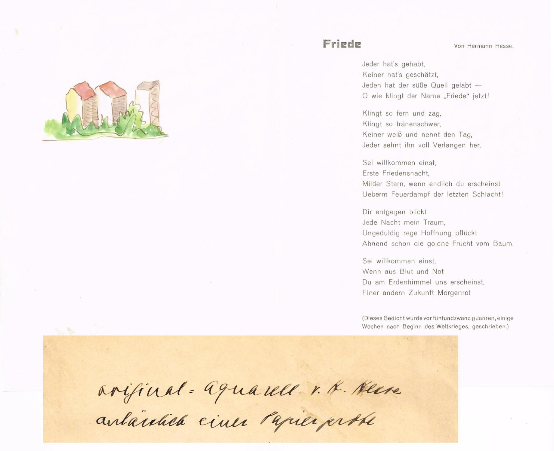 Hermann hesse gedicht nacht